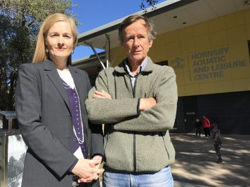 Emma Heyde and Alan Rate at Hornsby Aquatic Centre